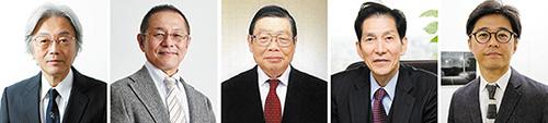 左から酒井敏行さん、石黒晶さん、林雅彦さん、宮本勝浩さん、小柳裕さん