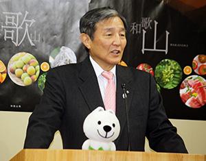 断水を巡る和歌山市の対応について語る仁坂知事