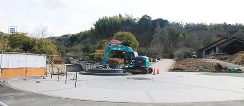 道の駅に登録され、リニューアル整備が進む四季の郷公園