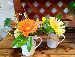 花で生活に彩りを