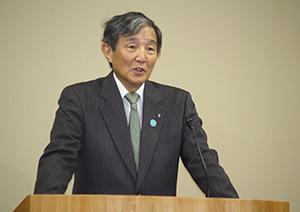 観光振興への意欲を述べる仁坂知事