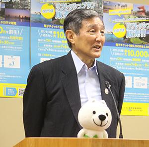 「和歌山の再発見を」と呼び掛ける仁坂知事