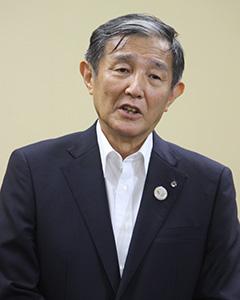 菅新総裁への期待を述べる仁坂知事