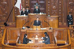 衆議院本会議で代表質問