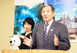 新たな奨励金の創設を発表する仁坂知事