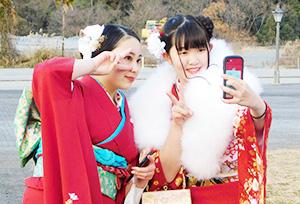 節目を祝い笑顔の新成人(紀美野町)