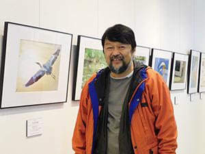 展示作品と谷所さん