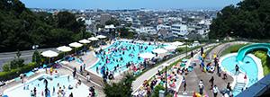 人気の「あきばさんプール」(秋葉山公園県民水泳場提供)