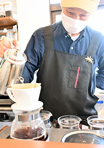 木寺さんが入れる自慢のコーヒー