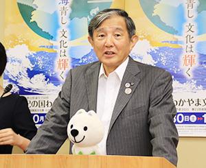 五輪観戦での注意を呼び掛ける仁坂知事