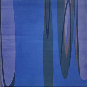 湯川雅紀さんの作品「MILKLY BLUE」(2020年)
