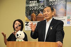 ワクチン接種状況の認識を話す仁坂知事