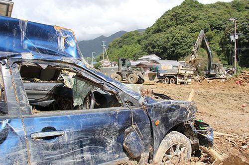 紀伊半島大水害で土石流の被害を受けた那智勝浦町(2011年9月)