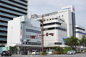 商業地の県内最高地点となった「和歌山市友田町5丁目50番外」付近